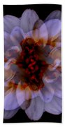 Zinnia On Black Bath Towel