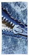 Zipper In Blue Bath Towel