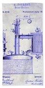 1878 Beer Boiler Patent Blueprint Hand Towel
