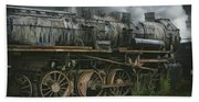 Abandoned Steam Locomotive  Bath Towel
