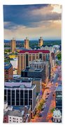 Aerial Panorama Of Albany, New York Hand Towel by Mihai Andritoiu