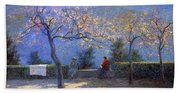 Angelo Morbelli 1853-1919, Spring In Colma - 1906 Hand Towel