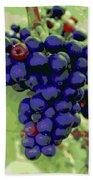 Blue Grape Bunches 6 Bath Towel