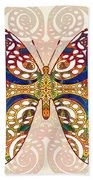 Butterfly Illustration - Transforming Rainbows  - Omaste Witkowski Bath Towel by Omaste Witkowski