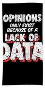 Computer Data Science Big Data Geek Pun Apparel Bath Towel