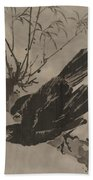 Crow On A Branch Hand Towel