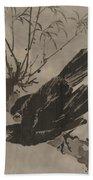 Crow On A Branch Bath Towel