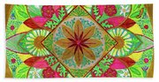 Flower Garden Mandala Bath Towel
