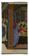 Four Scenes From The Early Life Of Saint Zenobius  Bath Towel