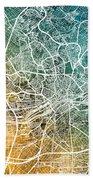 Frankfurt Germany City Map Bath Towel
