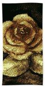 Antique Gold Rose Bath Towel