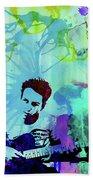 Legendary Joe Strummer Watercolor Bath Towel