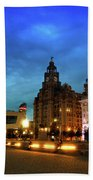 Liverpool's Historic Waterfront Bath Towel