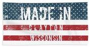 Made In Clayton, Wisconsin Bath Towel
