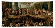 Mankind's Eternal Dilemma, The Choice Between Virtue And Vice Bath Towel