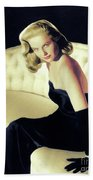 Martha Hyer, Vintage Actress Hand Towel