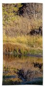 Moose At Green Pond Bath Towel