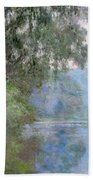 Morning On The Seine Near Giverny, 1897 Bath Towel