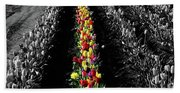 Rows Of Tulips Hand Towel