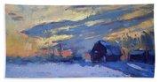 Sunset Over The Farm Hand Towel