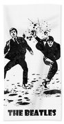 The Beatles Black And White Watercolor 01 Bath Towel