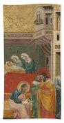 The Birth, Naming, And Circumcision Of Saint John The Baptist Bath Towel