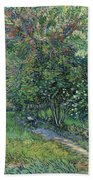 The Garden Of The Asylum At Saint-remy Hand Towel