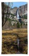 Upper And Lower Yosemite Falls Bath Towel