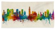 Utrecht The Netherlands Skyline Bath Towel