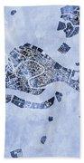 Venice Italy City Map Bath Towel