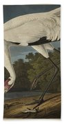 Whooping Crane  From The Birds Of America  Bath Towel