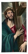 Christ Carrying The Cross  Hand Towel
