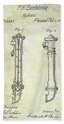 1859 Fire Hydrant Patent Hand Towel