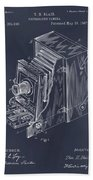 1887 Blair Photographic Camera Blackboard Patent Print Bath Towel