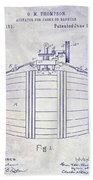 1888 Whiskey Or Beer Barral Patent Blueprint Hand Towel