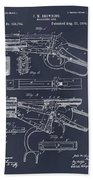 1894 Winchester Lever Action Rifle Blackboard Patent Print Bath Towel