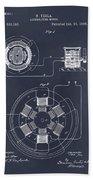 1896 Tesla Alternating Motor Blackboard Patent Print Bath Towel