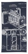 1899 Photographic Camera Patent Print Blackboard Hand Towel