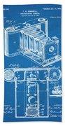 1899 Photographic Camera Patent Print Blueprint Hand Towel
