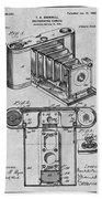 1899 Photographic Camera Patent Print Gray Bath Towel