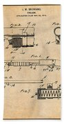 1913 Remington Model 17 Pump Shotgun Antique Paper Patent Print Bath Towel