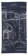 1919 Anesthetic Machine Blackboard Patent Print Bath Towel