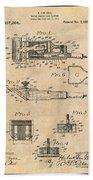 1919 Motor Driven Hair Clipper Antique Paper Patent Print Bath Towel