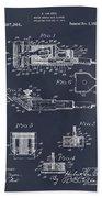 1919 Motor Driven Hair Clipper Blackboard Patent Print Bath Towel