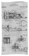 1919 Motor Driven Hair Clipper Gray Patent Print Bath Towel