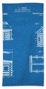 1920 Lincoln Logs Blueprint Patent Print Bath Towel