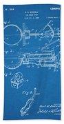 1924 Ice Cream Scoop Blueprint Patent Print Bath Towel