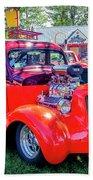 1935 Dodge Coupe Hot Rod Gasser Bath Towel