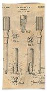 1935 Phillips Screw Driver Antique Paper Patent Print Bath Towel