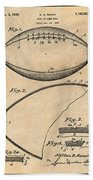 1936 Reach Football Antique Paper Patent Print Bath Towel
